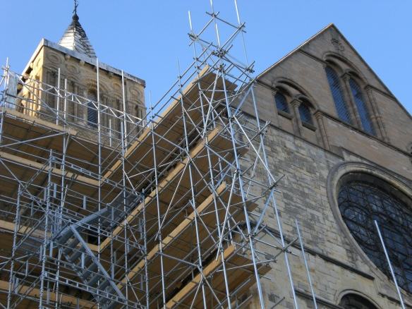 a church under reconstruction?