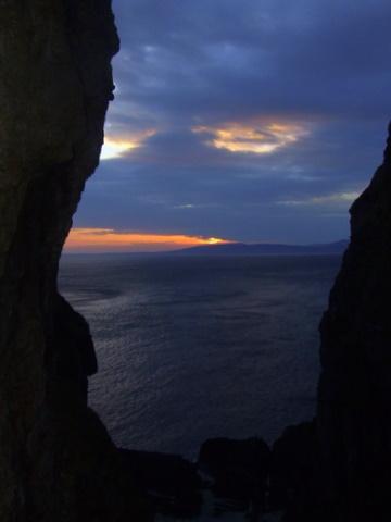 view from eileach an naoimh towards ross of mull
