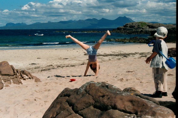 Emily and Will, somewhere in Wester Ross, 2003
