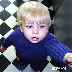 One of the heatbreaking picture of baby P shortly before he died.