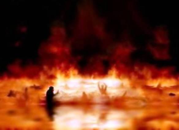 Option 2- fire, smoke, eternal torment- HELL