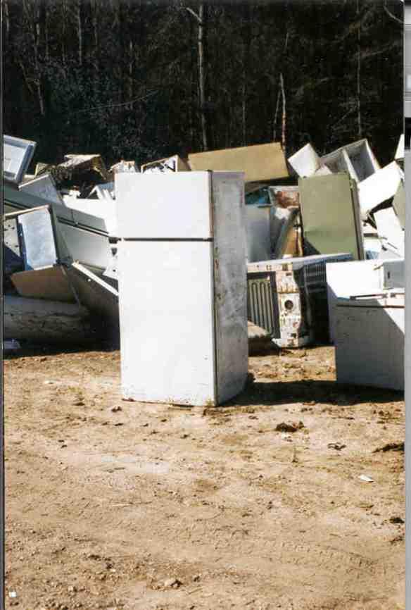 The fridge grave yard.