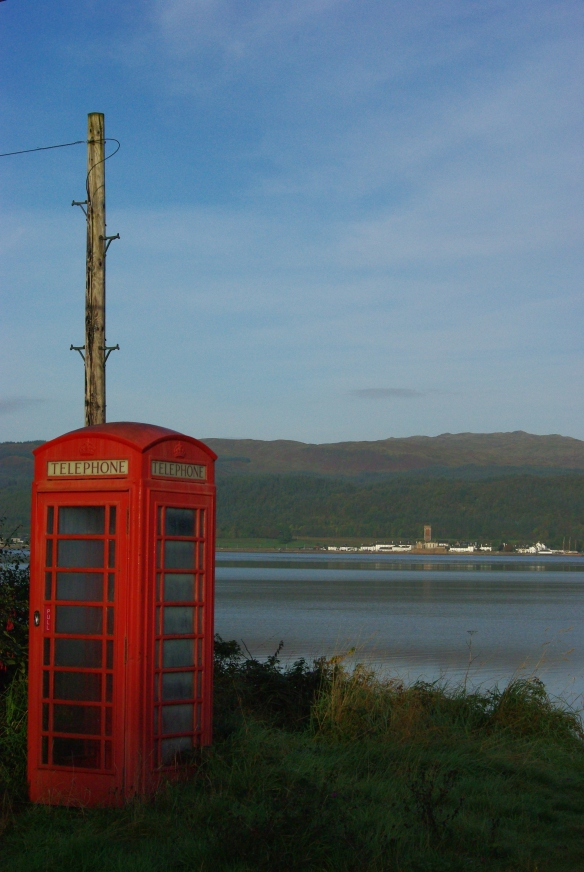 inveraray, phone box, loch fyne