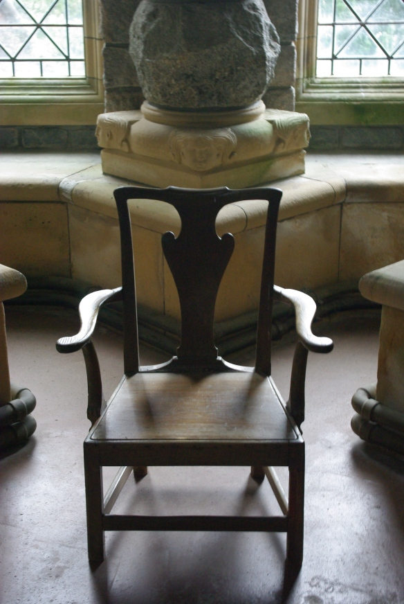 chair, symmetry, St Conan's Kirk, Loch Awe