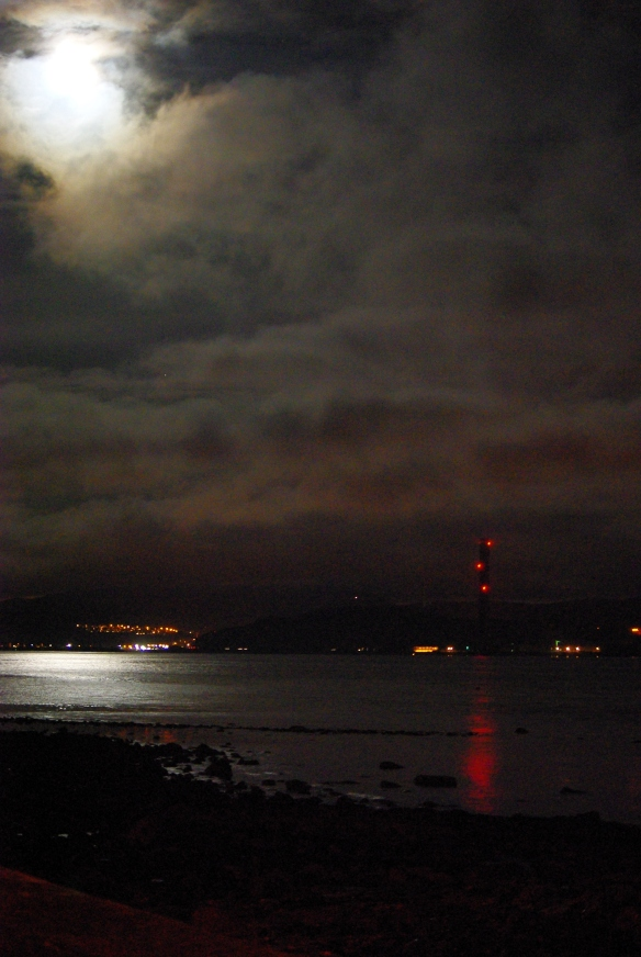 firth of clyde, night time