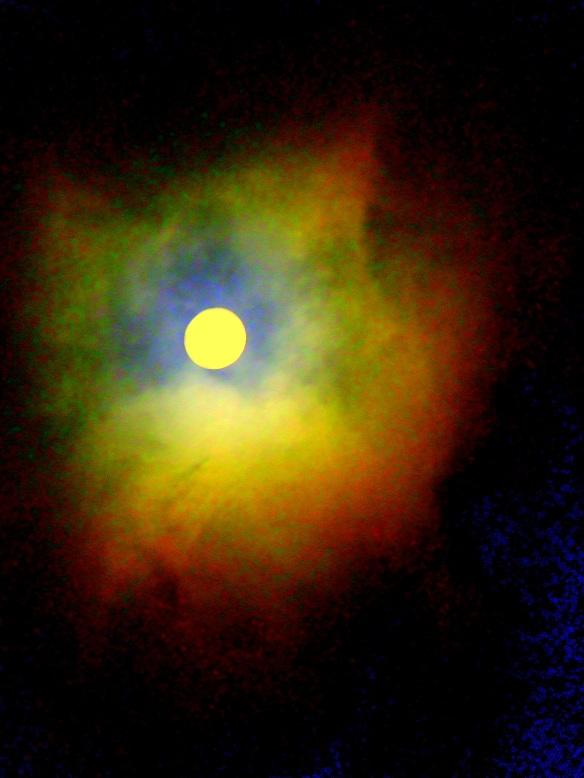 moon, neon