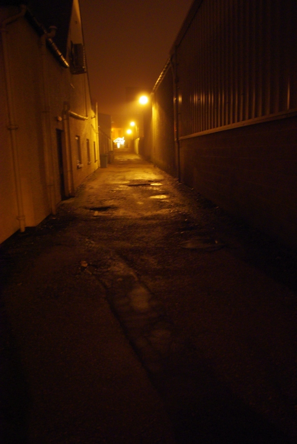 Dark street, Dunoon, night