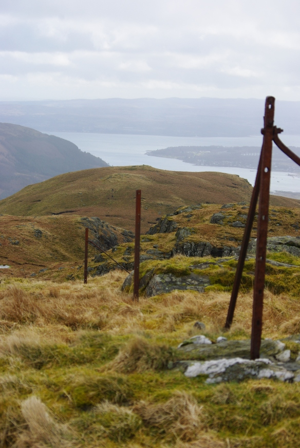 old fence, Holy Loch in the background