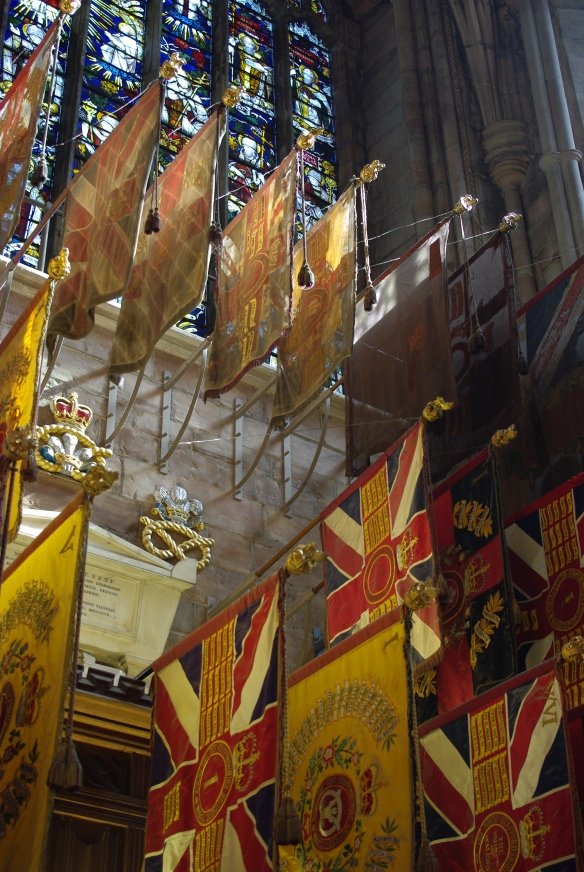 Military flags, Lichfield Cathedral