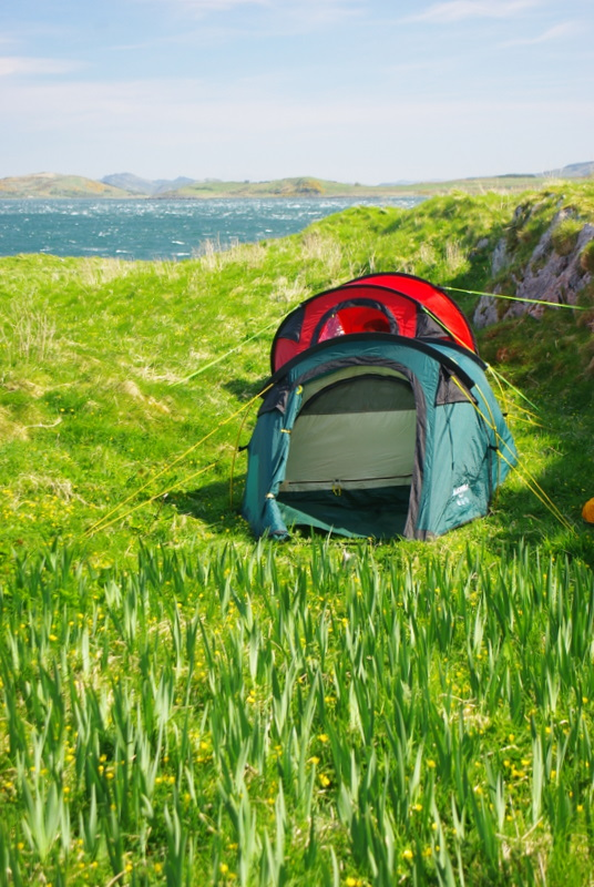 tents, in high wind
