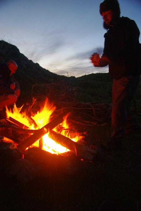 Jonny and Paul, fire