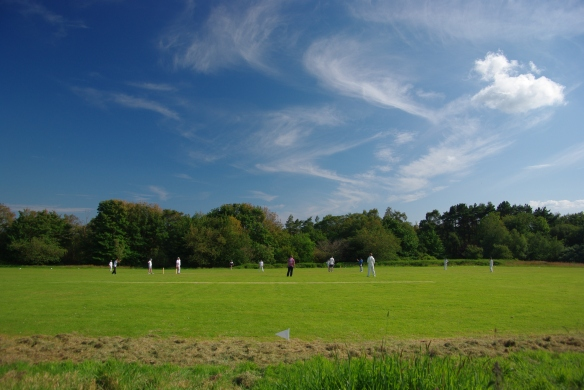 cricket ground, castle toward