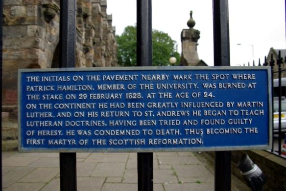 site of first scottish protestant martyrdom