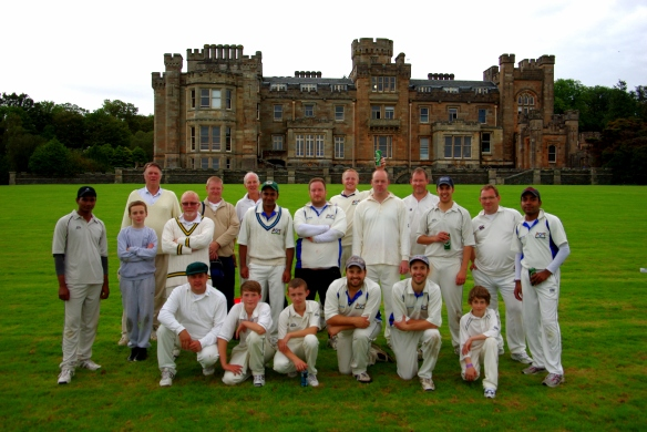 team photo, Innellan Cricket Club, Royal Botanical Gardens Edinburgh CC
