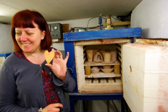 Michaela and the kiln