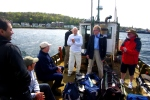 Outward bound- tossing a cricket ball around the boat
