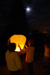 All saints eve sky lantern