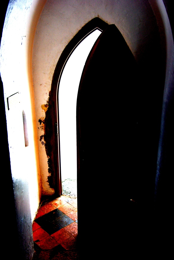 open door, rock chapel