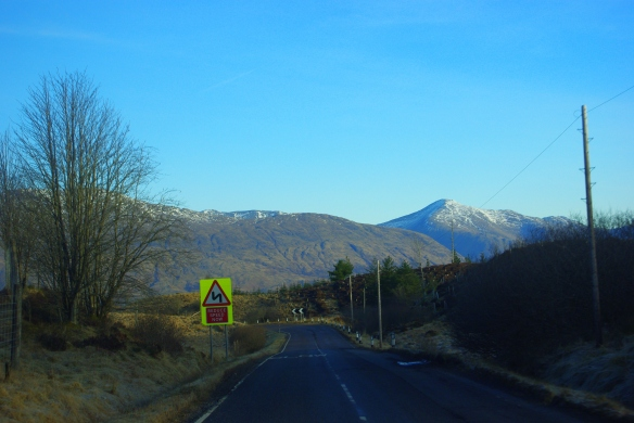 Winter road, Argyll