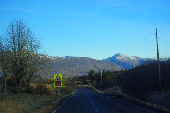 Winter road, Argyll