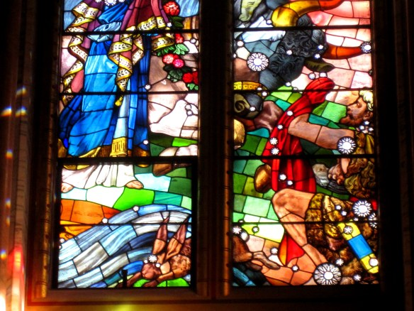 stained glass, mount stuart