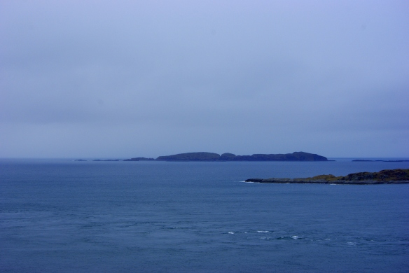 Eileach an Naoimh in the distance- the island we did not manage to land on