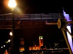 bendy bridge, houses of parliament, night