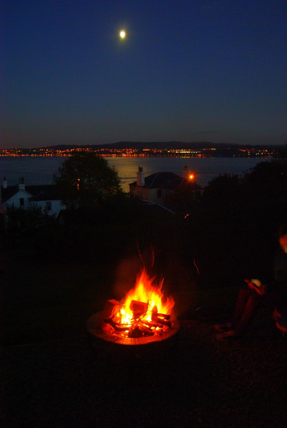 fire, moon, the clyde