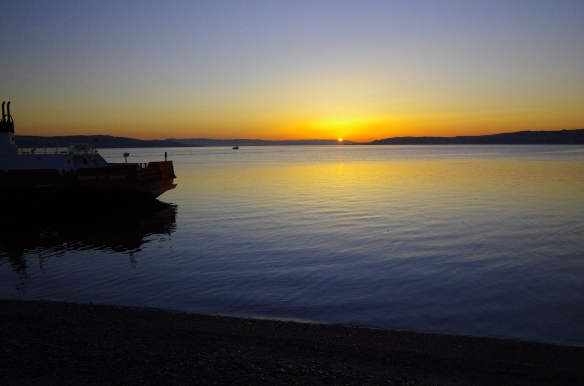 Sunrise, the Clyde, western ferries, dunoon