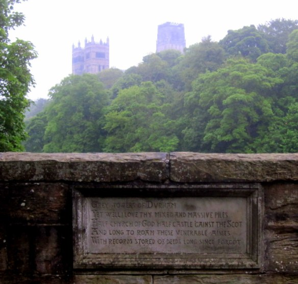 Inscription, bridge, durham