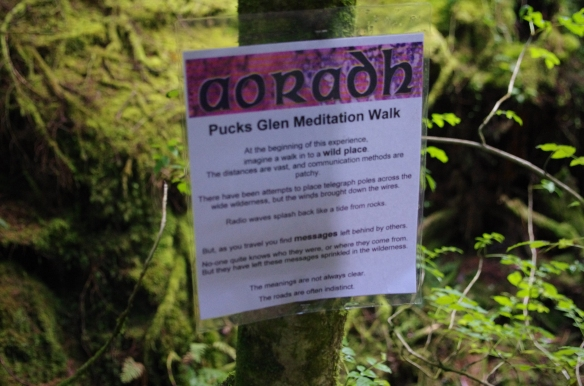 Aoradh meditation walk, start