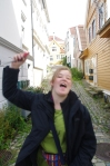 Emily photobomb