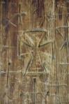 Ancient graffiti, stave church